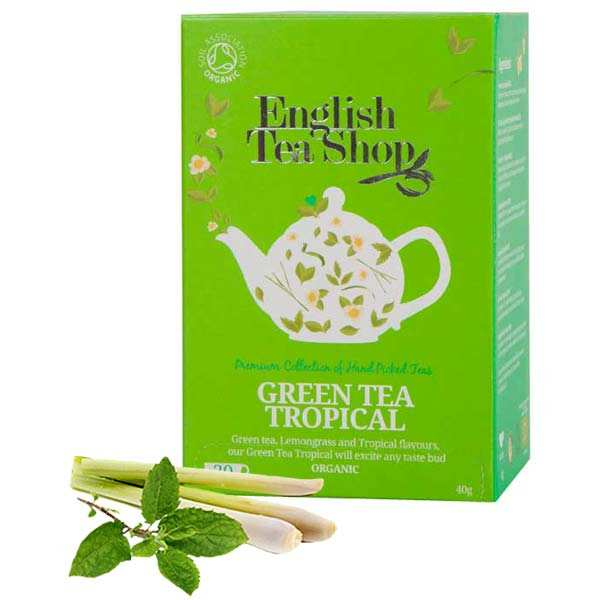 Organic Tropical Green Tea - muslin sachet