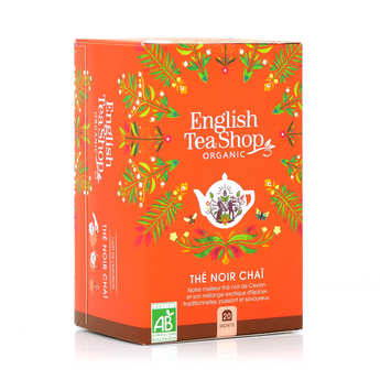 English Tea Shop - Thé noir Chaï et épices de Ceylan bio - sachet mousseline