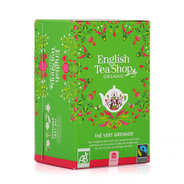 English Tea Shop - Organic Green Tea Pomegranate - muslin sachet