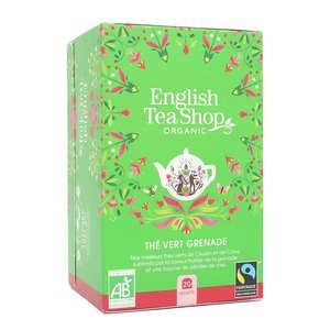 English Tea Shop - Organic Green Tea Pomegranate - muslin sachet