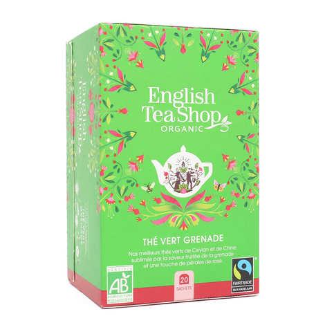 English Tea Shop - Thé vert de Ceylan à la grenade bio en sachets
