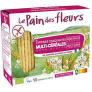 Le pain des fleurs - Crunchy organic toast, gluten free, no added sugard.
