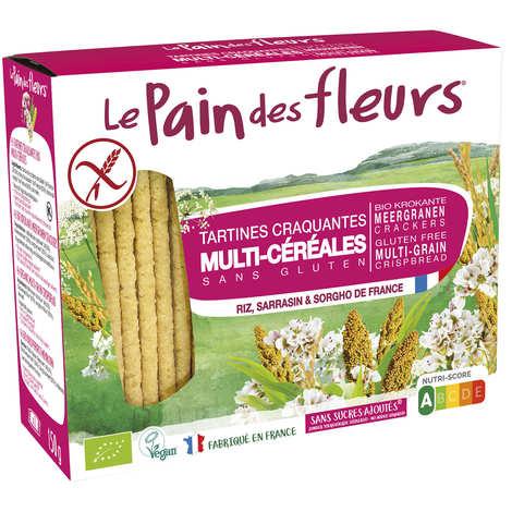 Le pain des fleurs - Crunchy organic toast, gluten free, no added sugard.