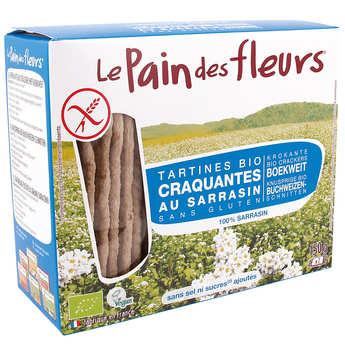 Le pain des fleurs - Crunchy organic buckwheat toast, gluten free, no added sugard.