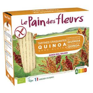 Le pain des fleurs - Crunchy organic quinoa toast, gluten free, no added sugard.