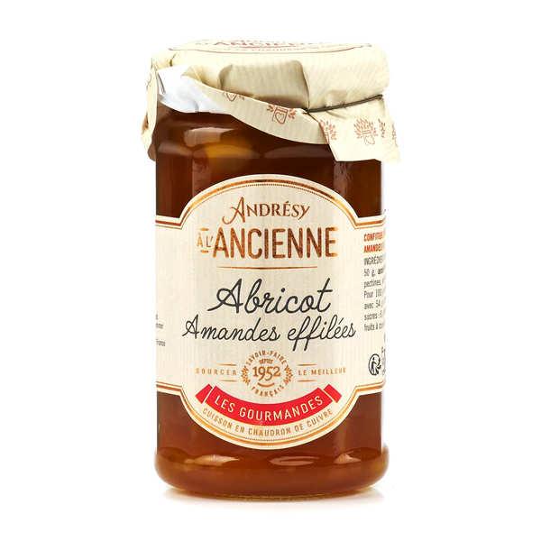 Confiture extra abricot et amandes effilées au sucre de canne