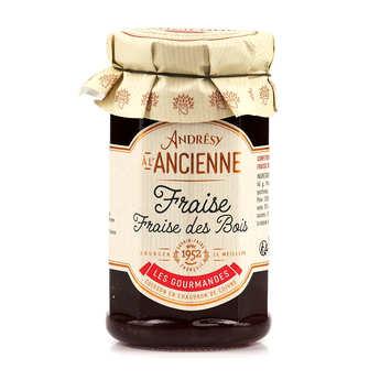 Andresy confitures - Confiture extra de fraise-fraise des bois au sucre de canne