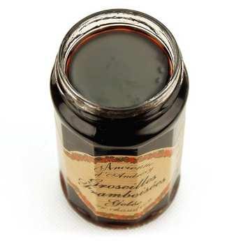 Andresy confitures - Gelée extra de groseille framboisée au sucre de canne