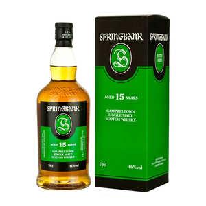 Springbank distilleries - Springbank Campbeltown Single Malt Whisky - 15 years old - 46%