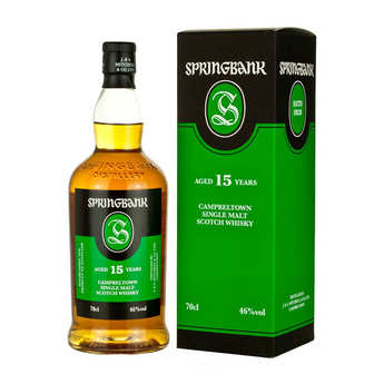 Springbank distilleries - Whisky Springbank 15 ans - Campbeltown Single Malt - 46% - 70cl
