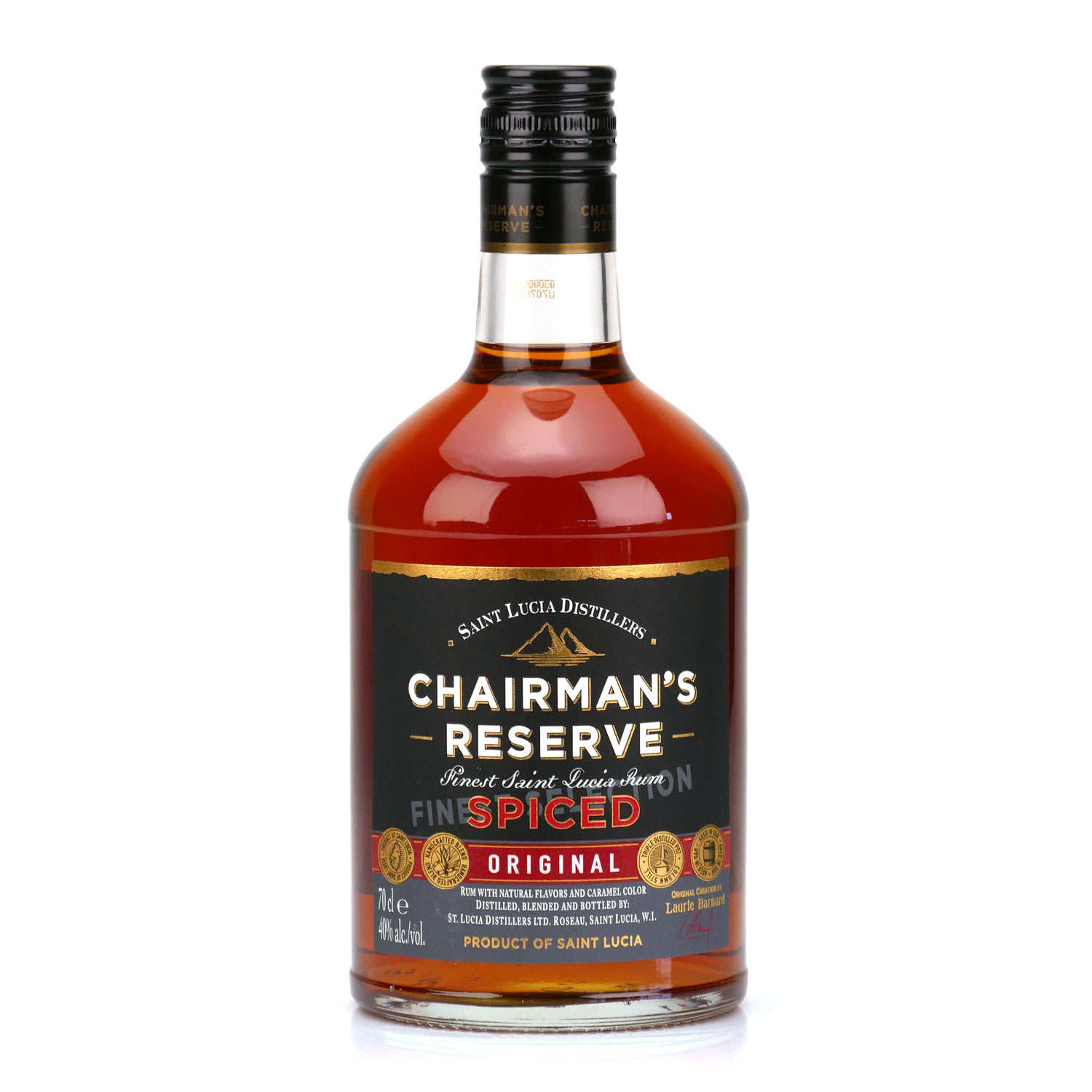Chairman's Reserve Spiced rum of Sainte Lucie -40%