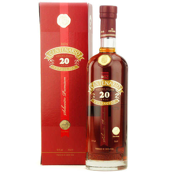 Centenario rum Premium 20 years old - Costa Rica - 40 %