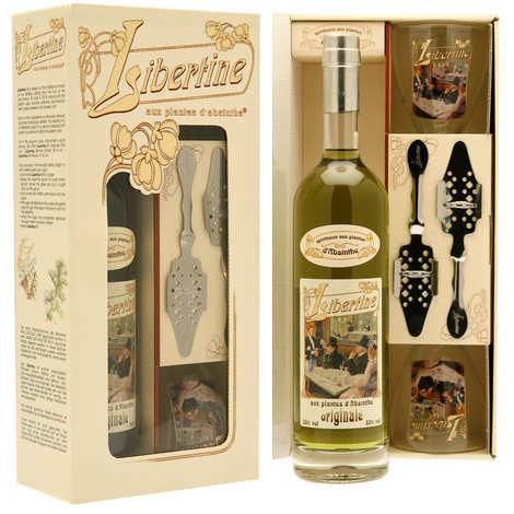 Distillerie Paul Devoille - Coffret Libertine originale - Spiritueux aux plantes d'absinthe - 55%