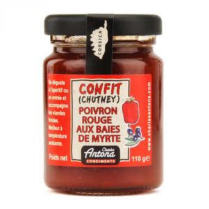 Charles Antona - Chutney de poivron rouge et baies de myrtres - spécialité Corse