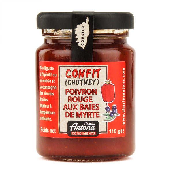 Chutney de poivron rouge et baies de myrtes - spécialité Corse