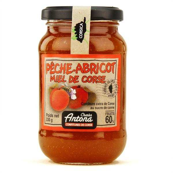 Confiture extra de Corse bio Pêche-abricot-miel