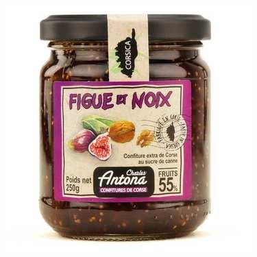 Confiture extra de figue et noix de Corse