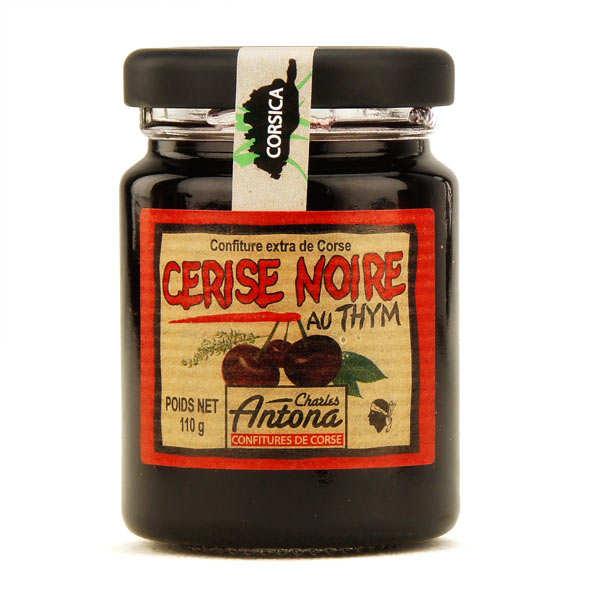 Confiture extra de cerise noire au thym de Corse