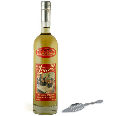 Distillerie Paul Devoille - Libertine amer - Une cuillère à absinthe offerte - 68%