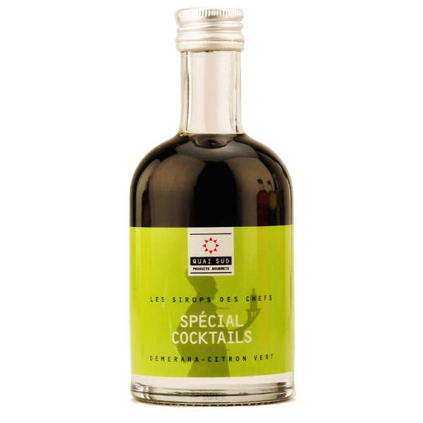 Sirop spécial cocktails (sirop Demerara - citron vert)