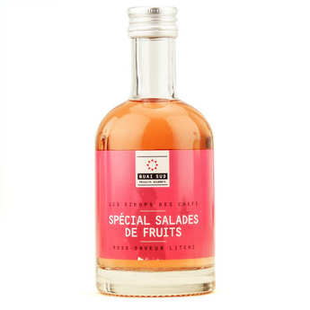 Quai Sud - Special fruit salad syrup -Rose syrup with litchi fruit flavour