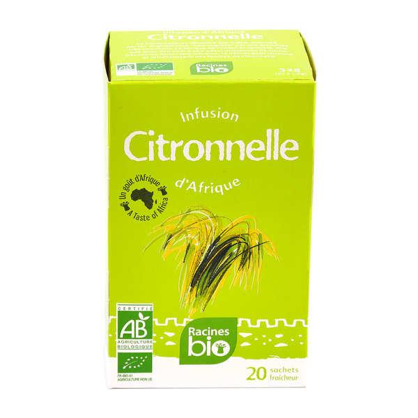 Infusions d'afrique à la citronnelle bio - boite de 20 sachets