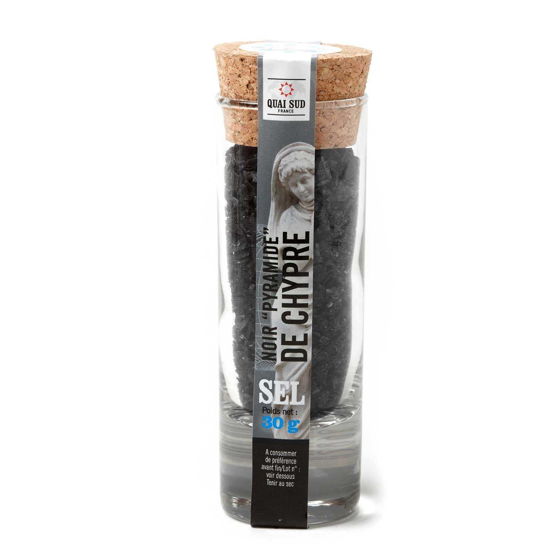 Black pyramide salt from Chypre