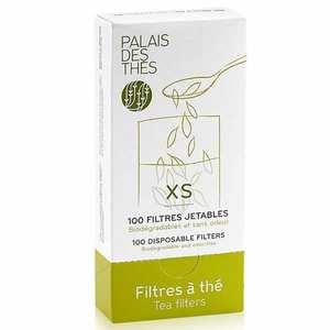 Palais des Thés - Boîte de 100 filtres à thé individuels jetables - Taille XS