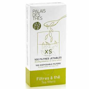 Palais des Thés - Pack of 100 disposable paper tea filters - XS