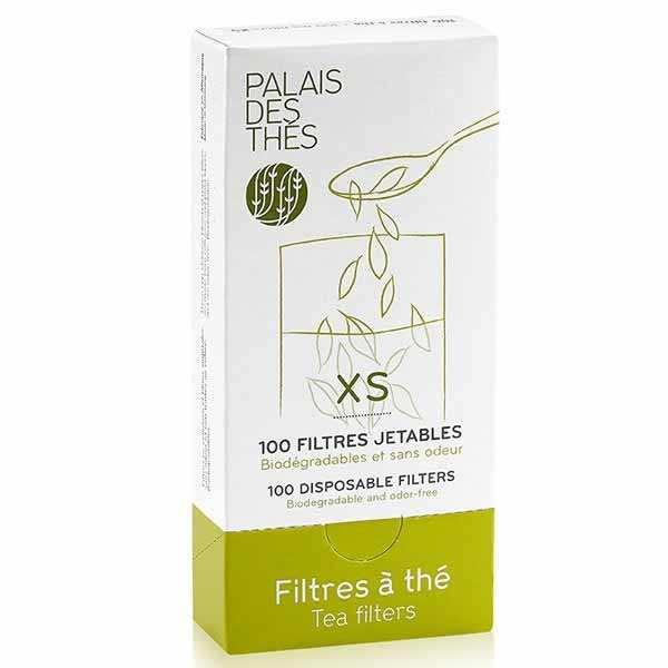 Boîte de 100 filtres à thé individuels jetables - Taille XS