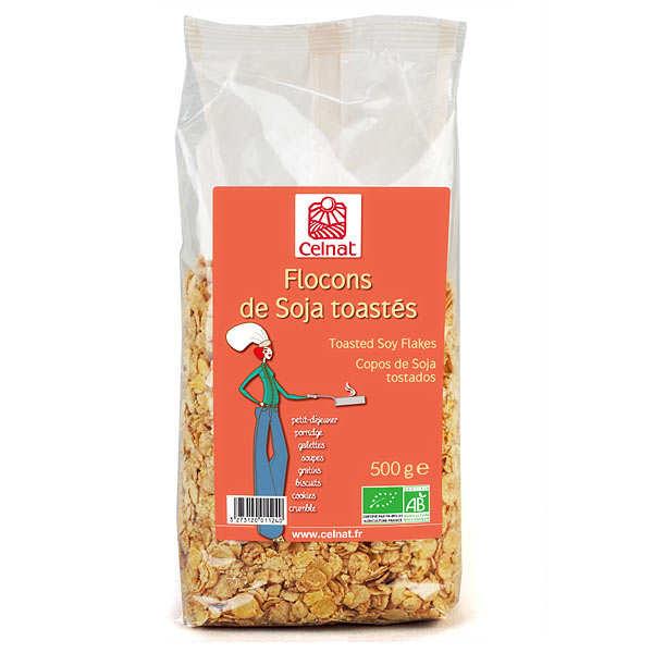 Flocons de soja toastés bio
