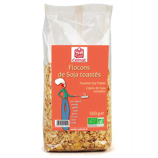 Organic Tosted Soy Flakes
