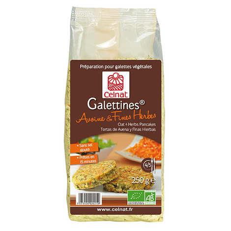 Celnat - Galettines avoine & fines herbes bio