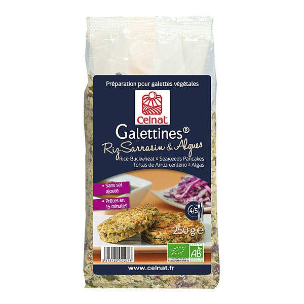 Galettines riz sarrasin et algues bio