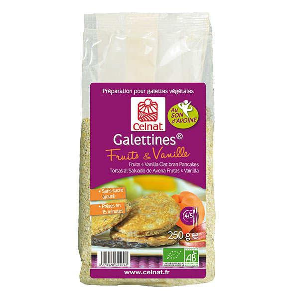 Galettines au son d'avoine Fruits & Vanille bio