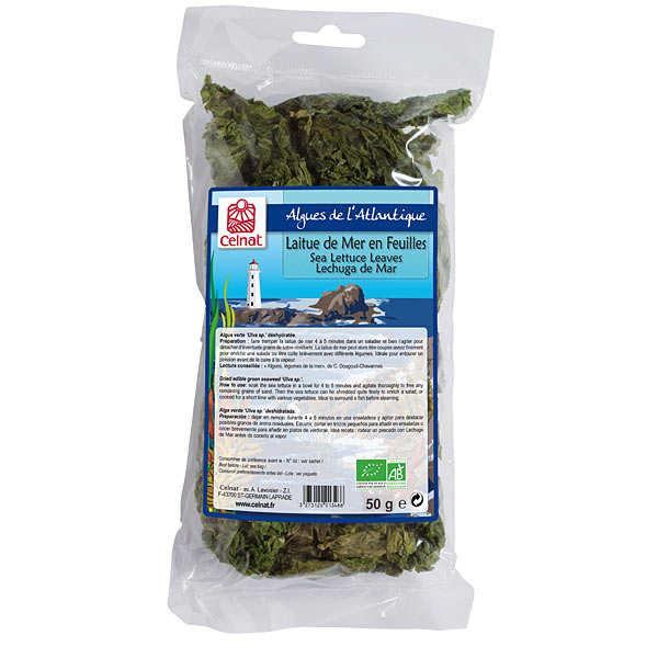 Laitue de mer en feuilles - Algues déshydratées bio - Celnat