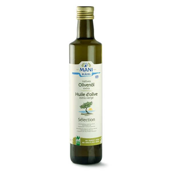 Huile d'olive de Grèce bio variété koroneiki - Mani Blauel