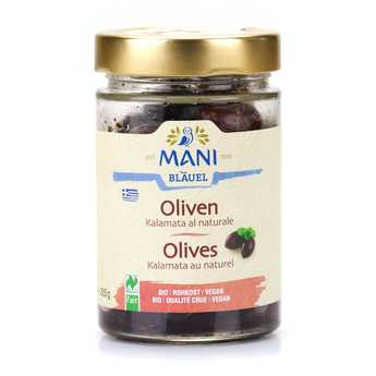 "Mani Blauel - Olives de Kalamata grecques ""au naturel"" bio"