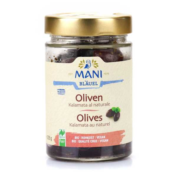 "Olives de Kalamata grecques ""au naturel"" bio"