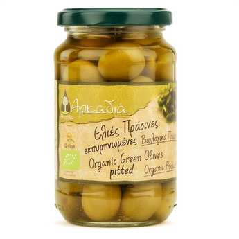 Arcadia - Olives vertes Chalkidiki dénoyautées grecques (saumure) bio