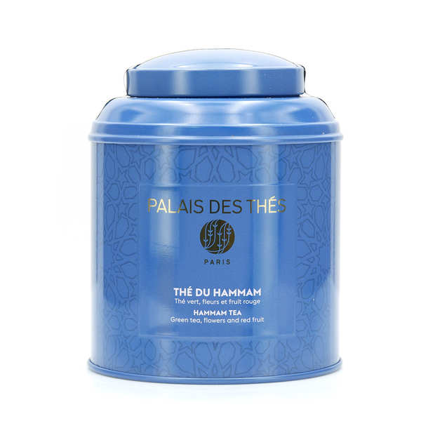 Boîte métal bleue - Thé du Hammam