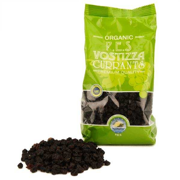 Organic Greek dried raisins from Corinthe - AOC Vostizza