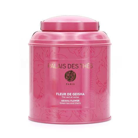 Palais des Thés - Boîte métal rose - Thé Fleur de Geisha