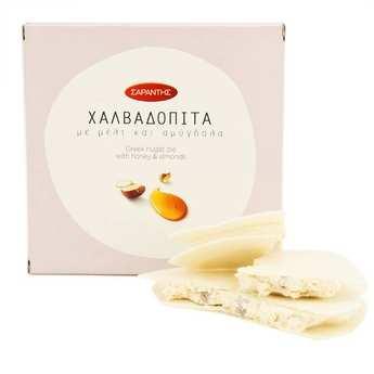 Saradis - Halvadopita miel amandes - spécialité grecque au nougat
