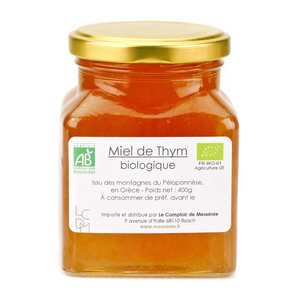 - Organic Greek Thyme Honey (420g)