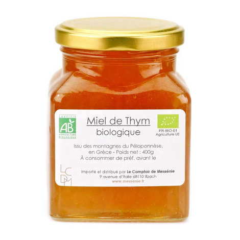 Le comptoir de Messénie - Organic Greek Thyme Honey (420g)