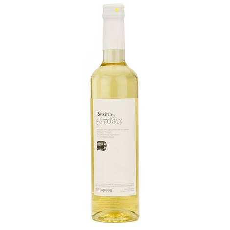 Think Green - Retsine blanc Roditis - Vin blanc grec résineux 11.5%