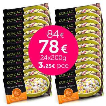 Kalys Gastronomie - 24 sachets de Gohan en promo - Riz rond de konjac