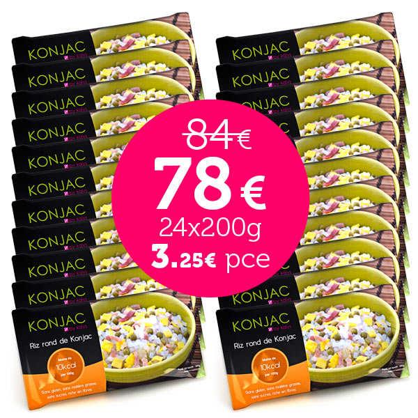 24 bags of gohan - Round rice konjac