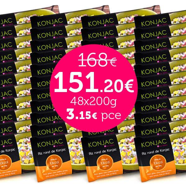 48 sachets de Gohan offre spéciale - Riz rond de konjac